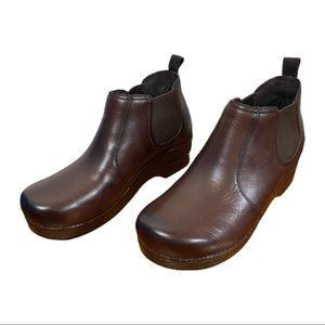 Dansko Brown Leather Frankie Ankle Comfort Booties